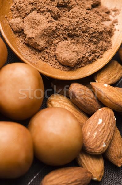 Marzipan potatoes with ingredients Stock photo © joannawnuk