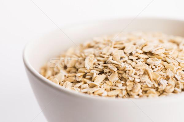 ストックフォト: 燕麦 · ボウル · 自然 · 背景 · 朝食