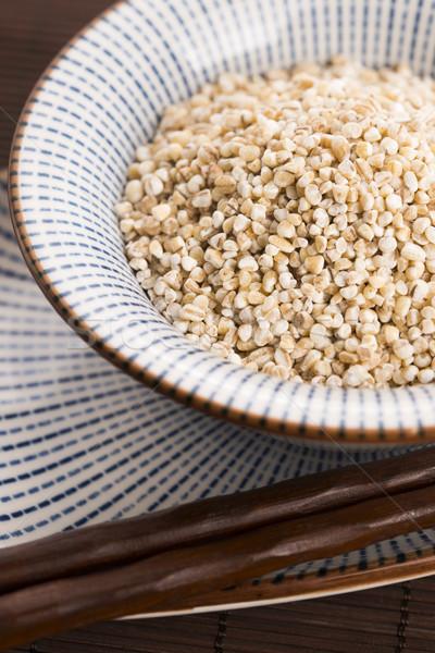 raw pearl barley Stock photo © joannawnuk
