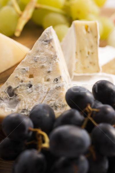 Assortiment fromages fruits raisins fruits restaurant Photo stock © joannawnuk