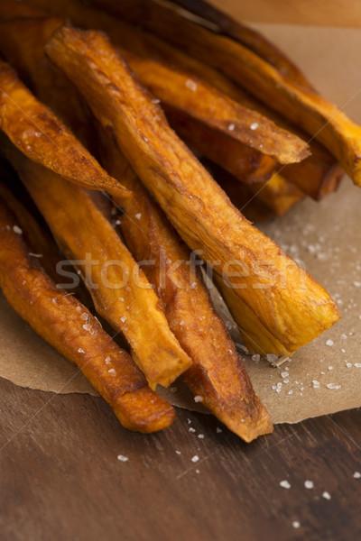 Tatlı patates patates kızartması mutfak sebze pişirme öğle yemeği Stok fotoğraf © joannawnuk