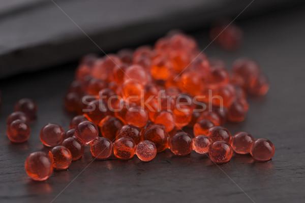Eper kaviár molekuláris gasztronómia tudomány labda Stock fotó © joannawnuk