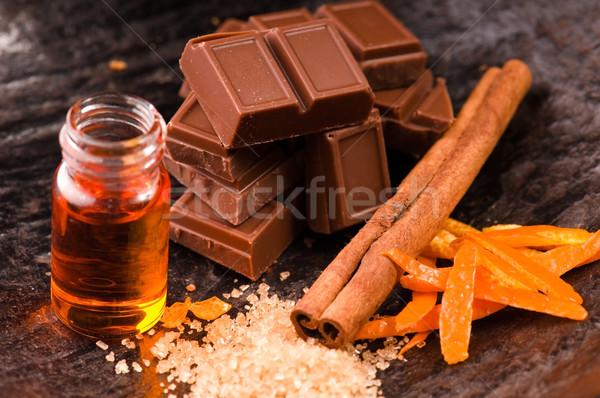chocolate with orange and cinnamon Stock photo © joannawnuk