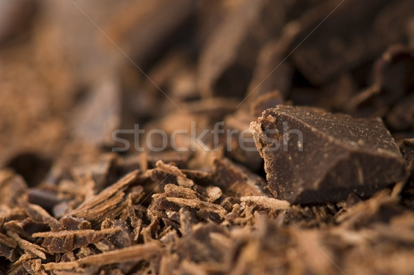 Picado chocolate bar leche dulces comer Foto stock © joannawnuk