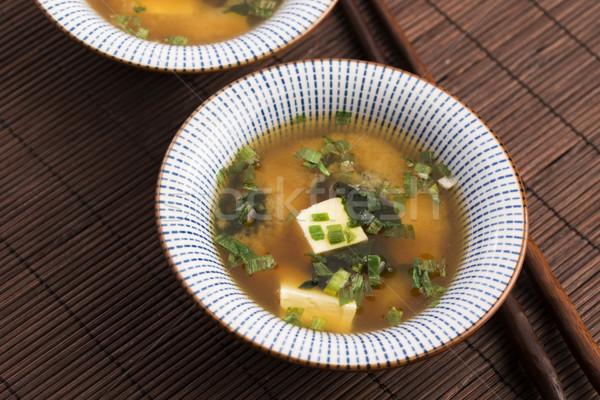 ストックフォト: 日本語 · スープ · 食品 · 背景 · キッチン · 竹