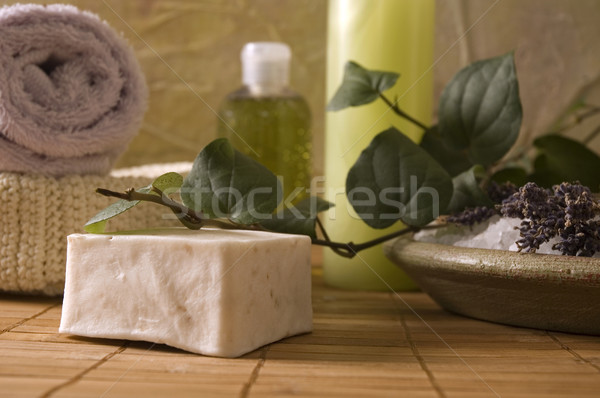 lavender bath items. aromatherapy Stock photo © joannawnuk