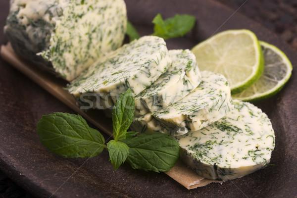 Stockfoto: Kruiden · boter · tuin · groene · citroen · vers