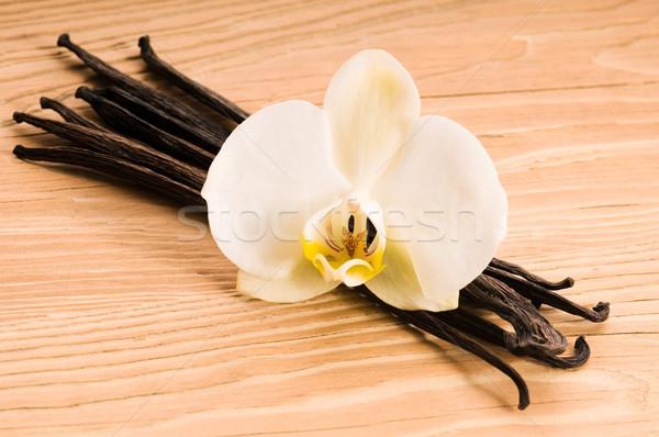 Foto stock: Baunilha · flor · comida · asiático · branco · cozinhar