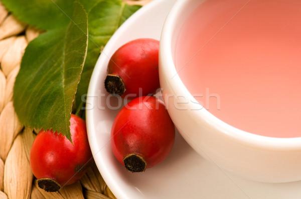 Stock fotó: Rózsa · csípő · tea · kutya · gyümölcs · háttér