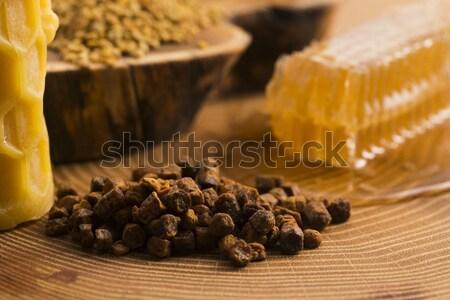 ハニカム 花粉 蜂ろう 花 自然 はちみつ ストックフォト © joannawnuk