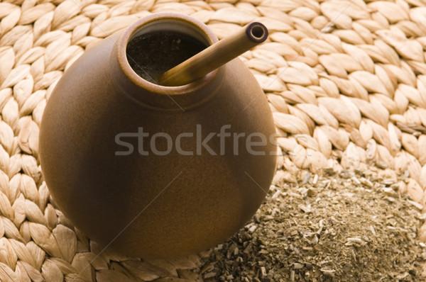 伴侶 食品 健康 喝 杯 容器 商業照片 © joannawnuk