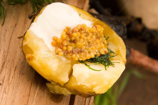Patate panna acida grano senape erbe Foto d'archivio © joannawnuk