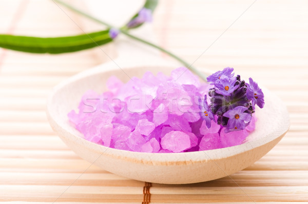 lavender flower and bath salt. spa and wellness Stock photo © joannawnuk