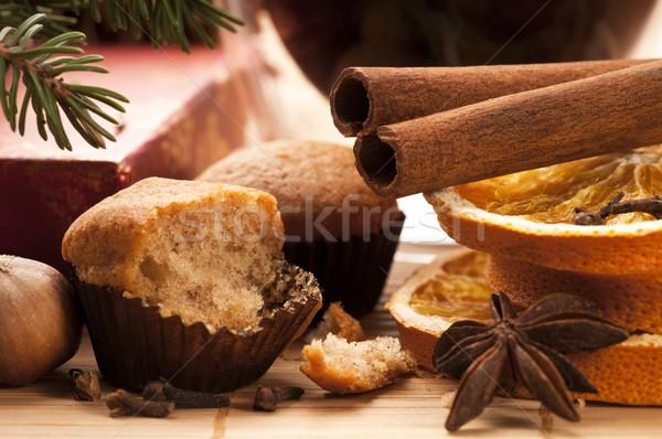 Foto d'archivio: Muffins · Natale · decorazione · alimentare