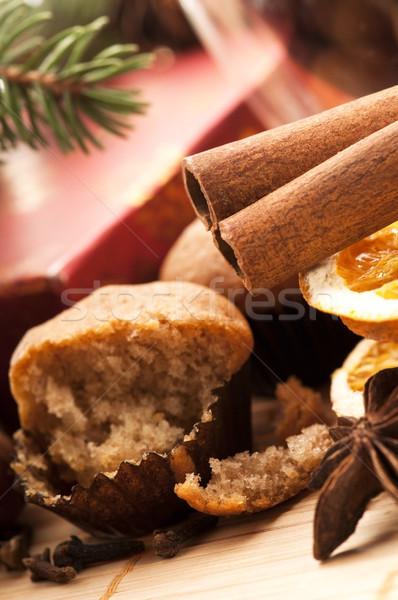 Karácsony sütés desszert kanál ünneplés édes Stock fotó © joannawnuk