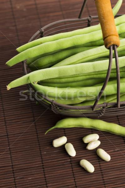 Green beans close up Stock photo © joannawnuk