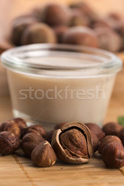 Nocciola latte sfondo bere grano colazione Foto d'archivio © joannawnuk