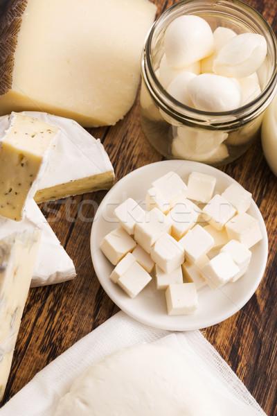 異なる チーズ 表 ディナー 朝食 料理 ストックフォト © joannawnuk
