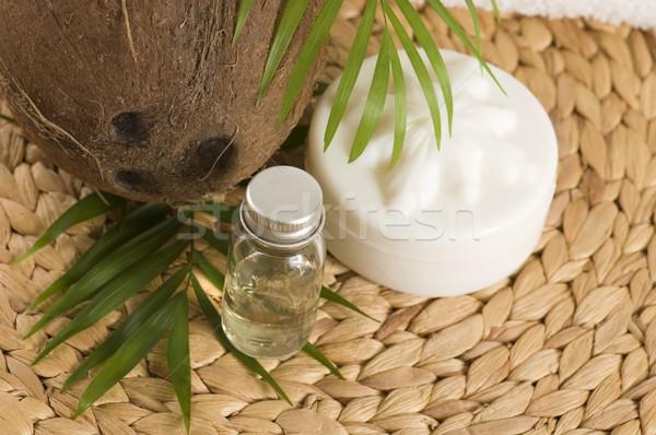Cocco olio alternativa terapia fiore salute Foto d'archivio © joannawnuk