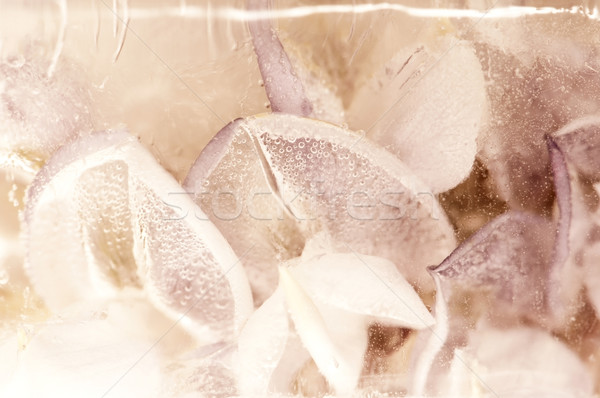 ストックフォト: 凍結 · 花 · アイスキューブ · 自然 · デザイン