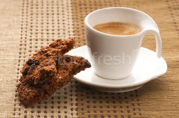 Cookies with hot coffee Stock photo © joannawnuk