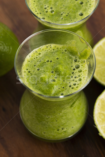 Healthy green drink, vegetable juice Stock photo © joannawnuk