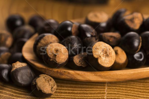 Semi legno caffè impianto dadi spezie Foto d'archivio © joannawnuk