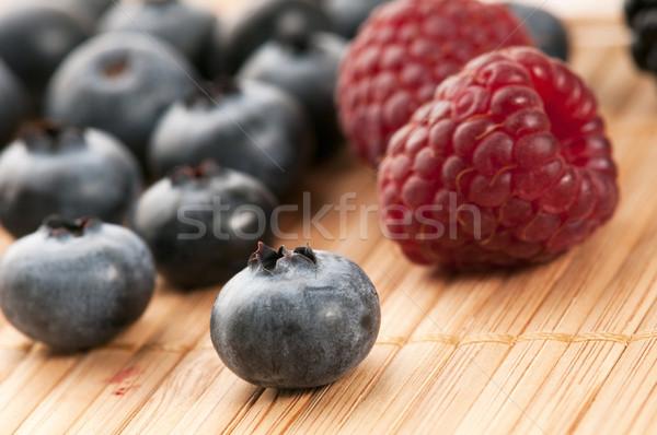 Stockfoto: Vers · zomer · bessen · voedsel · groene · eten