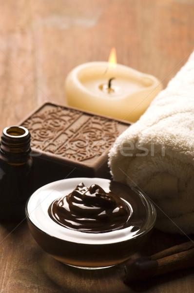 Stock fotó: Csokoládé · fürdő · fahéj