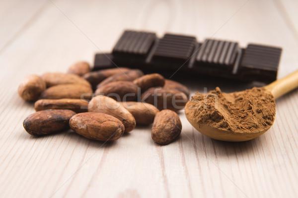 Stockfoto: Cacao · bonen · chocolade · plant · eten · graan