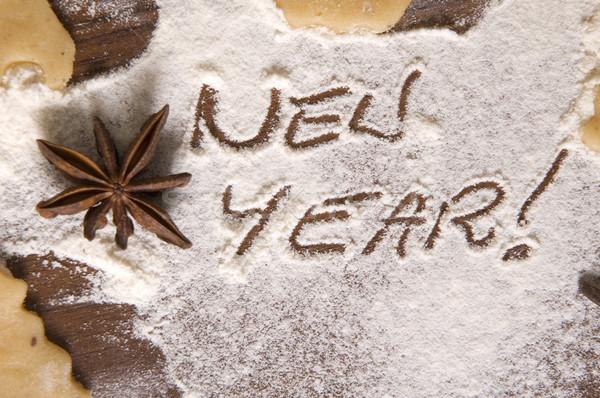 Photo stock: Nouvelle · année · préparation · ingrédients · lumière · cuisine
