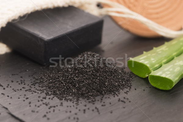 ストックフォト: 自然 · カーボン · 石鹸 · アロエ · 美 · 黒