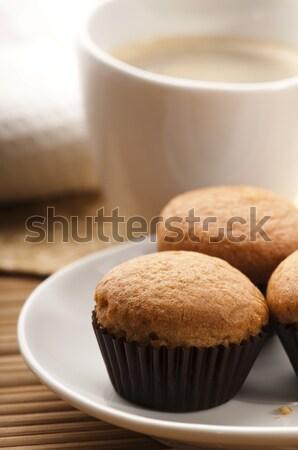 Stock fotó: Kávé · fahéj · muffinok · étel · csokoládé · étterem