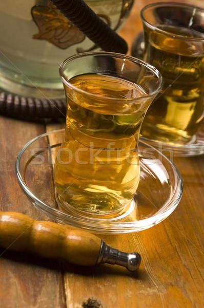 Сток-фото: Кубок · турецкий · чай · кальян · служивший · традиционный