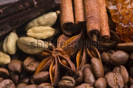 çikolata kahve çekirdekleri baharatlar kakao tıp yağ Stok fotoğraf © joannawnuk