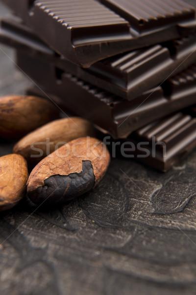 Cacao fagioli latte cioccolato cioccolato fondente gruppo Foto d'archivio © joannawnuk