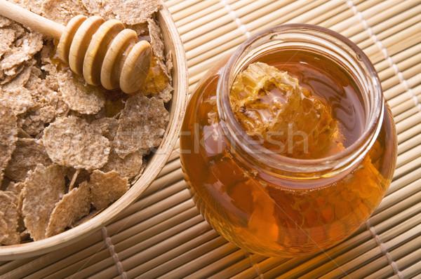 Vers honing honingraat ontbijt voedsel Stockfoto © joannawnuk