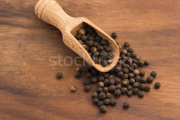 черный перчинка продовольствие белый перец макроса Сток-фото © joannawnuk
