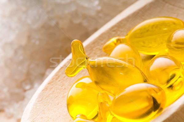 bath salt and capsule. spa and wellness Stock photo © joannawnuk