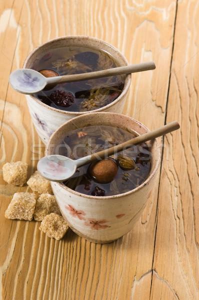 чай лист плодов золото Кубок азиатских Сток-фото © joannawnuk