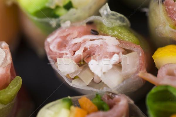 Japon salata rulo balık sağlık Asya Stok fotoğraf © joannawnuk