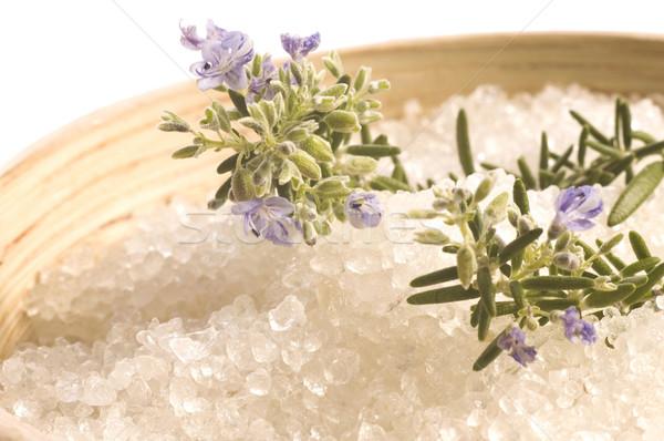 Rosmarino sale aroma bagno aromaterapia Foto d'archivio © joannawnuk
