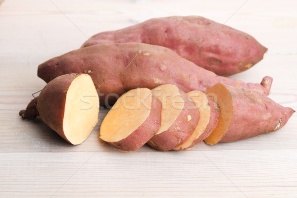 Fresh Organic Orange Sweet Potato Stock photo © joannawnuk