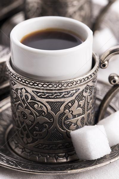 Turco café comida vidro tabela relaxar Foto stock © joannawnuk
