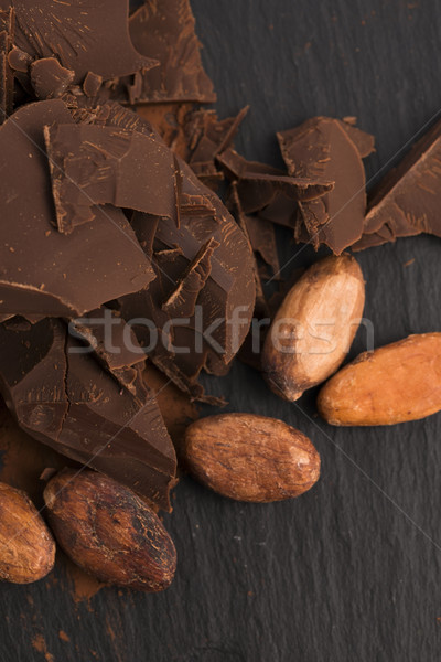 Picado chocolate cacau comida fundo bar Foto stock © joannawnuk