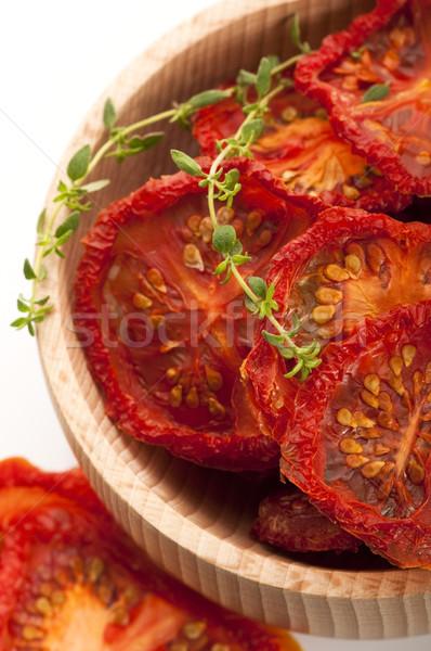 意大利的 太陽 乾燥 蕃茄 種子 橫 商業照片 © joannawnuk