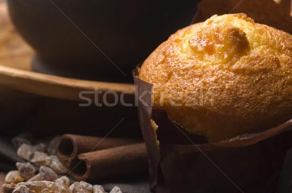 Stock fotó: Házi · készítésű · fahéj · muffinok · kávé · kávé · muffin