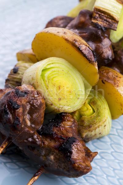 Grilled kebab (shashlik) Stock photo © joannawnuk