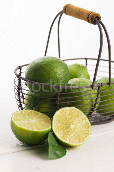 Fresh limes Stock photo © joannawnuk