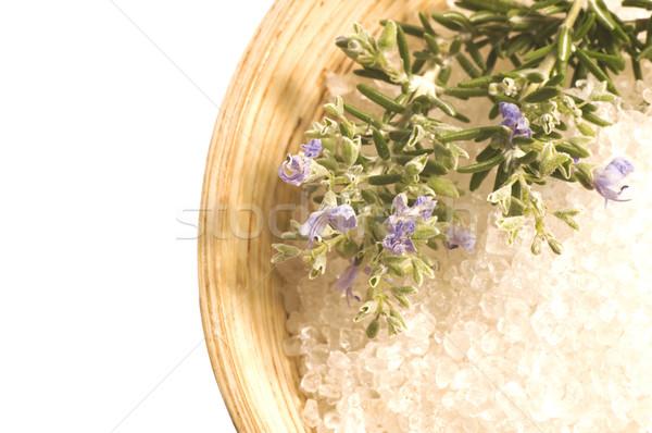 Rozmaring só aroma fürdőkád aromaterápia fürdősó Stock fotó © joannawnuk